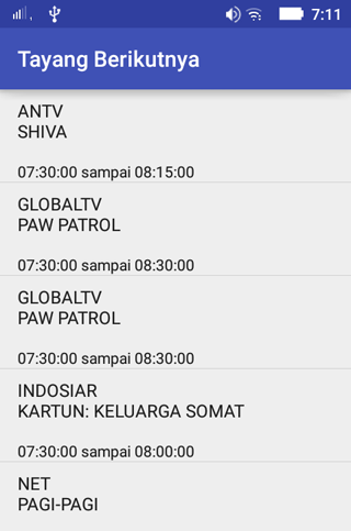 Jadwal Acara TV- screenshot