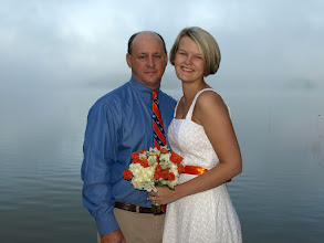 Photo: Married at their home on Lake Hartwell - Anderson, SC - On their dock early morning  ~www.WeddingWoman.net ~