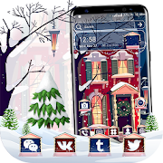 Winter House Snow Fall Launcher Theme
