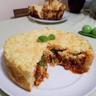 Sausage and Rice Timbale.