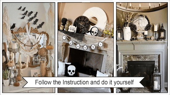 Spooky Halloween Mantel Decorations - náhled