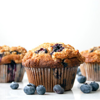 Whole Wheat Blueberry Muffins with Almonds