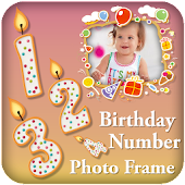 Birthday Date Photo Frame Editor : Birthday Number