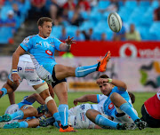 Ivan van Zyl of the Vodacom Blue Bulls clears the base during the Currie Cup match between Vodacom Blue Bulls and Xerox Golden Lions XV at Loftus Versfeld on September 01, 2018 in Pretoria, South Africa.