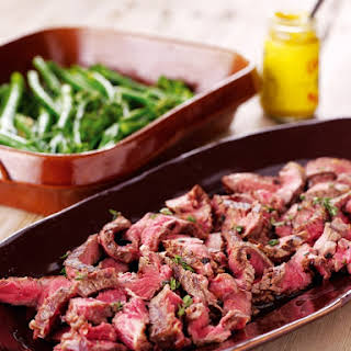 Steak Slice With Lemon and Thyme.