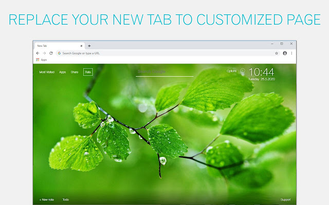 Green Wallpapers HD New Tab by freeaddon.com