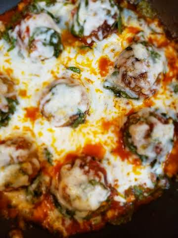 Meatballs with Spinach and Marinara