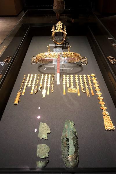 Jewelry display from a field trip to Gyeongju while on study abroad Program in Daegu S.Korea