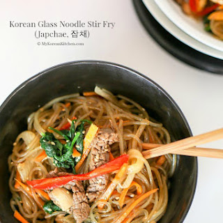 Korean Glass Noodle Stir Fry (Japchae)