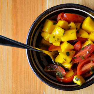 Mango and Tomato Salad with Mint Chimichurri Recipe