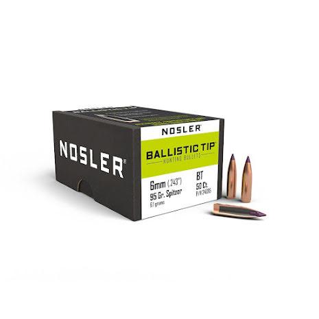 Nosler BT 6mm 95gr Spitzer 50st