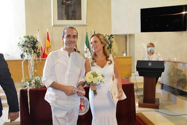 Los novios, Fernando Labordeta y Eva de la Rosa.