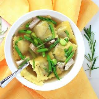 Ravioli Chicken Soup.