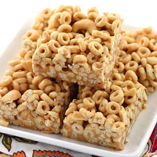 Peanut Butter & Honey Cereal Bars