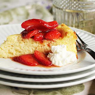 Strawberry Glazed Italian Ricotta Cheesecake.