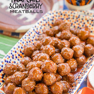 Thai Chili and Cranberry Meatballs Recipe