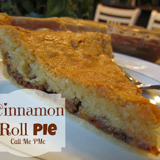 Cinnamon Roll Pie.