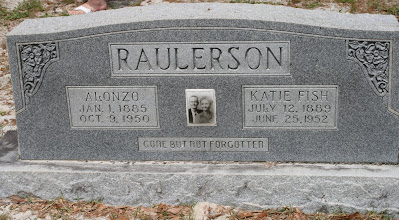 Photo: Alonzo Raulerson son of William M Raulerson and America Texas Dinkens  and his Wife Katie Fish Raulerson daughter of James Benjamin Fish and Julia Kesiah Smith