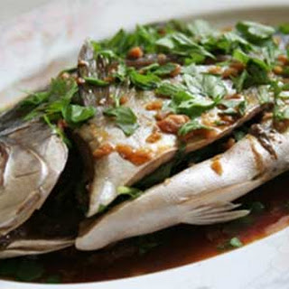 Steamed Pompano with Ginger-Soy Sauce