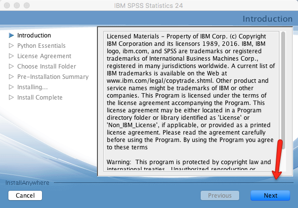 Mac SPSS Install Introduction