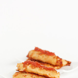 Pepperoni Stuffed Mozzarella Sticks