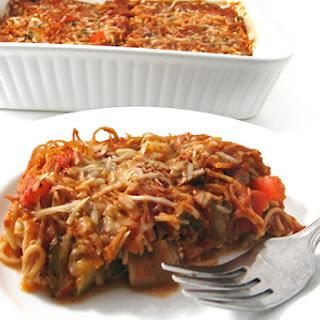 Fabulously Skinny, Vegetarian Spaghetti Casserole