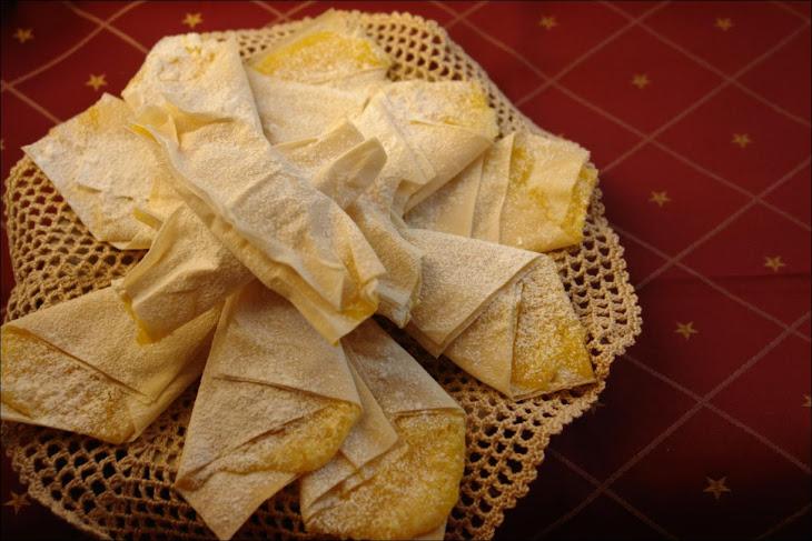 Phyllo Dough Stars with Egg Cream Recipe