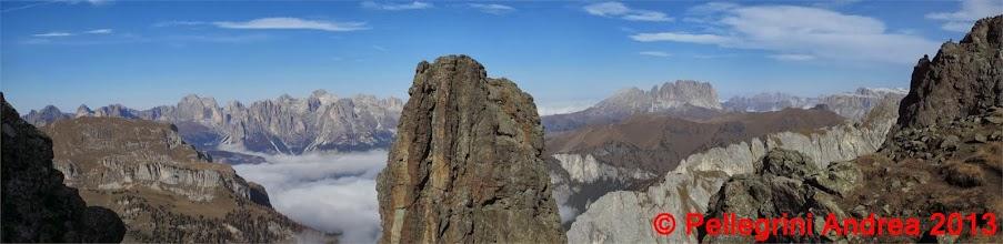 Photo: Panorama 8 Catinaccio, Sassolungo, Sella dalla Cresta dei Monzoni