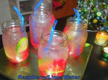 Raspberry Lime Iced Water Recipe