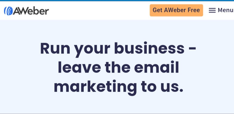 Aweber email marketing for Shopify