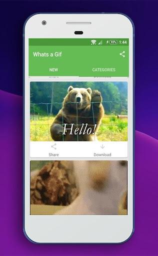 Whats a Gif - GIFS Sender(Saver,Downloader, Share) 2.2.9.5 screenshots 1