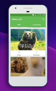 Whats a Gif - GIFS Sender(Saver,Downloader, Share) - náhled