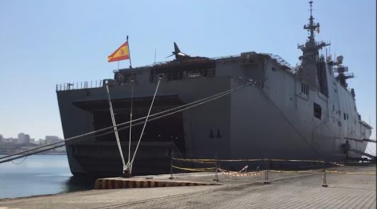 El buque en Almería en junio de 2017