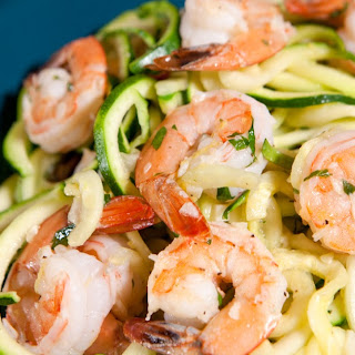 Zoodles and Shrimp Scampi.