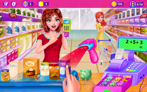 Supermarket Girl Cashier Game - Grocery Shopping cheat screenshots 1