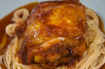 Chicken Thighs Braised in a Soy/Honey Sauce