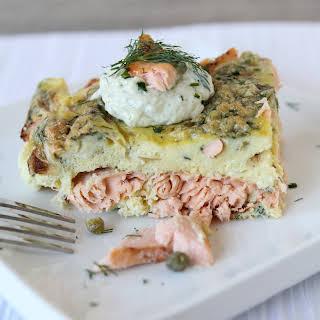 Salmon Frittata.