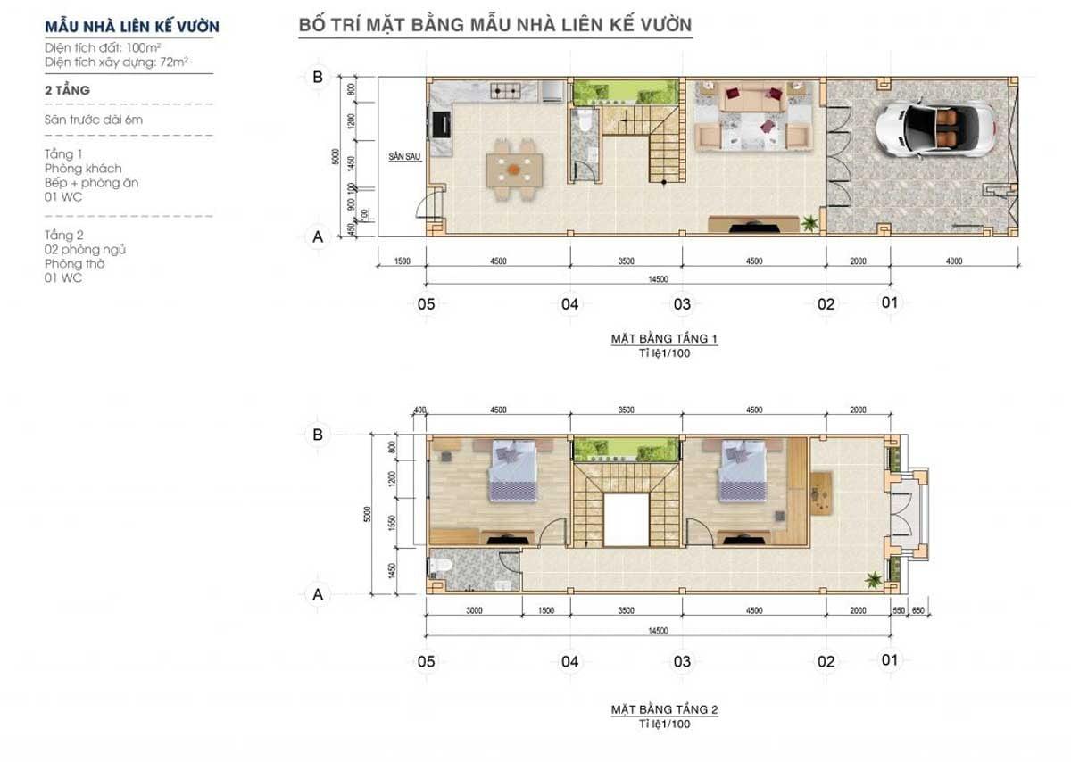 Thiết kế mẫu nhà liên kế vườn tại dự án Century City