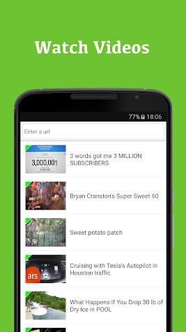 Surf Browser Screenshot