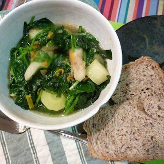 Jerusalem Artichoke Minestrone With Spinach.