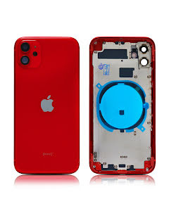 iPhone 11 Housing without small parts HQ Red
