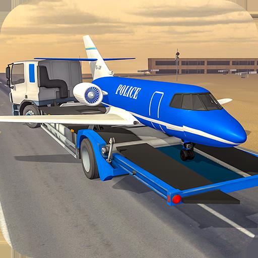 Police Plane Builder : Transporter Truck Game