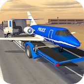 Police Plane Builder : Transporter Truck Game