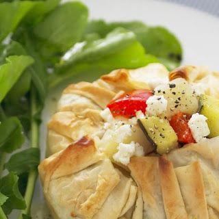 Vegetable and Feta Filo Pies