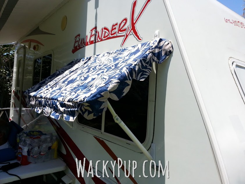 Adjustable removable awnings for any camper from pvc