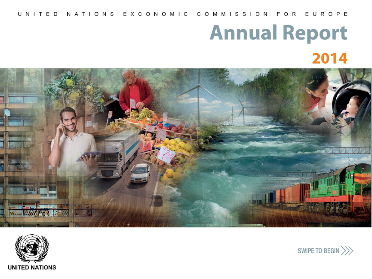 UNECE Annual Report 2014- screenshot