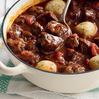 Beef And Tomato Casserole With Herb Dumplings