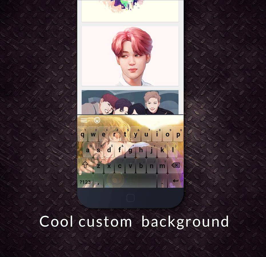 Google themes kpop - Emoji Keyboard Kpop Theme Screenshot