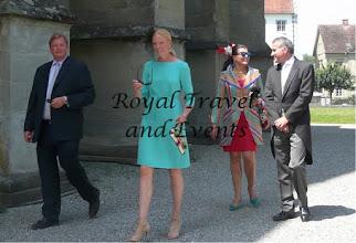 Photo: Count Moritz of Goëss with Duchess Elsabeth in Bavaria, Duchess Fleur of Württemberg, Countess of Goëss with Daniel Terberger