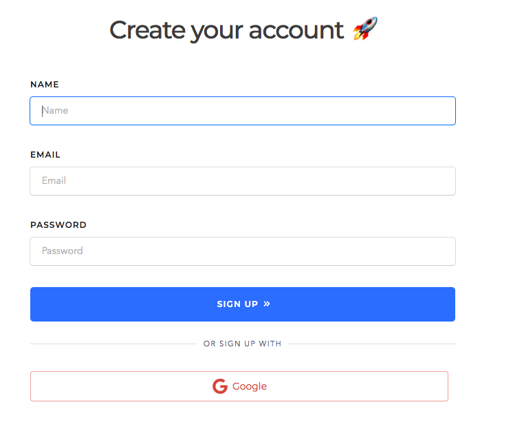 signing up for socialcaptain